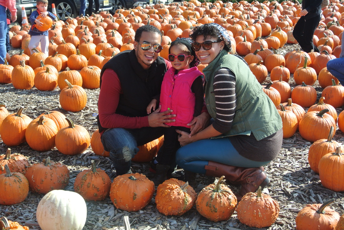 Pumpkin Picking in Faux Leather Tights + Cargo Vest