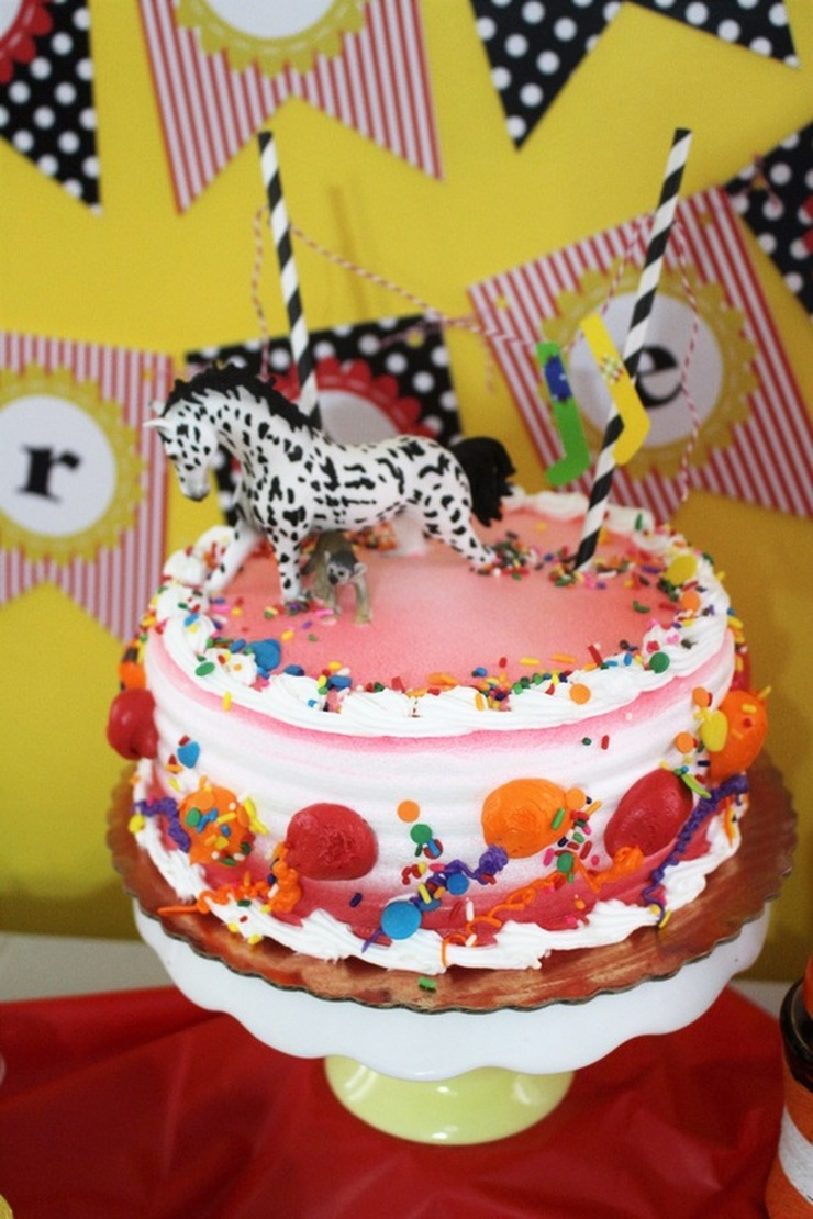 Aarlen's 3rd Birthday: Pippi Longstocking Party - Cake #chicafashionblog