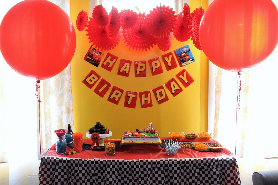AARLÉN TURNS 4: DISNEY CARS BIRTHDAY PARTY - Tablescape #AliciaEverAfterBlog