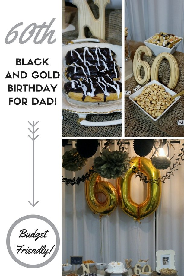 Alicia Gibbs: Black and Gold 60th Birthday Party for Dad #ChicaFashionBlog