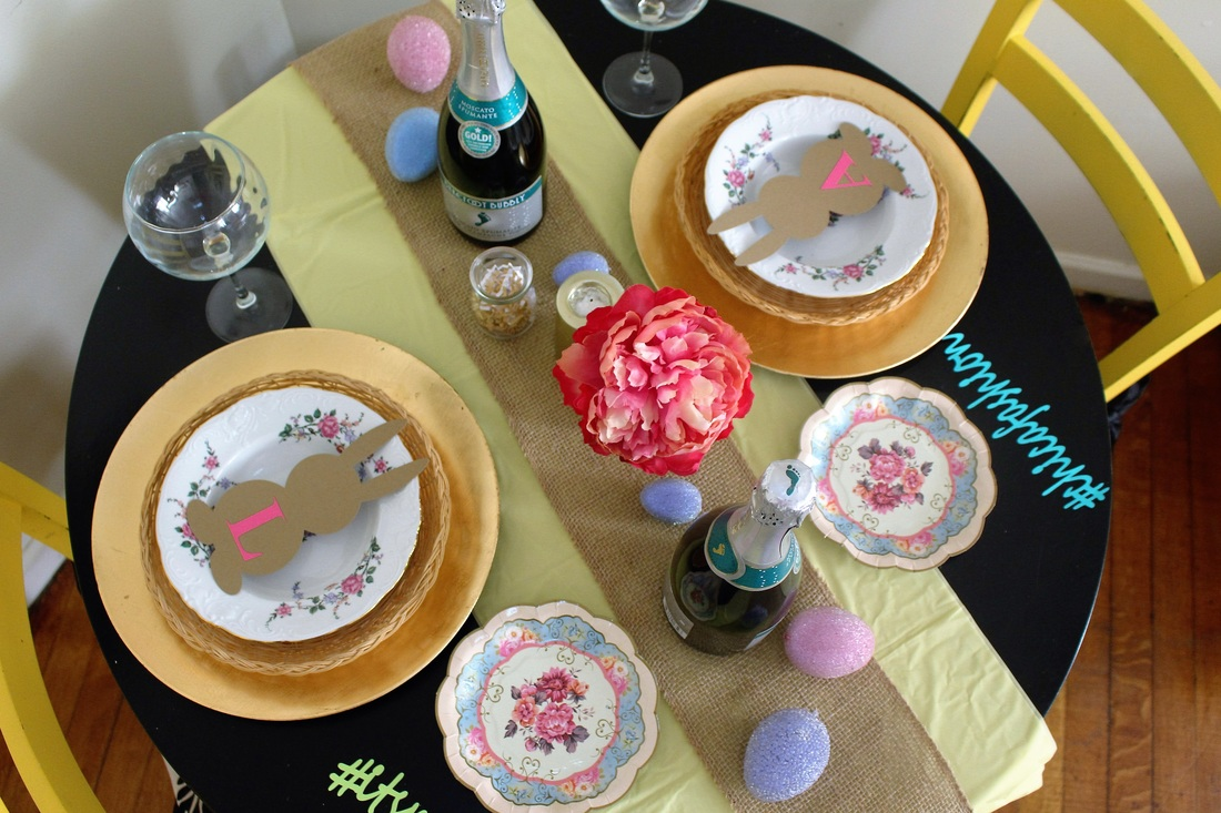 A Budget Friendly Easter Table Setting #chicafashionblog