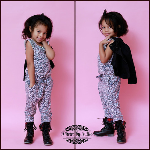 chica fashion: Mini Chica Fashion: Monster High 4th Birthday: Leopard Jumpsuit + Moto Jacket
