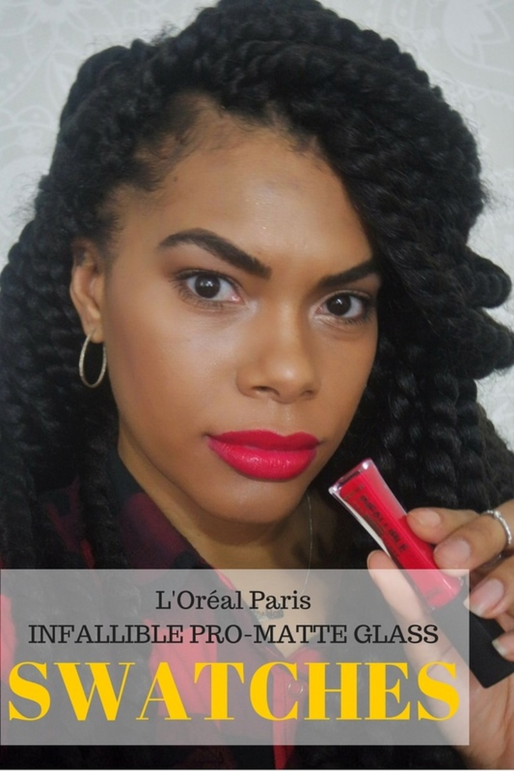 Alicia Gibbs: L'oreal Infalliable Pro-Matte Lip Gloss Swatches #chicafashionpage #Loreal