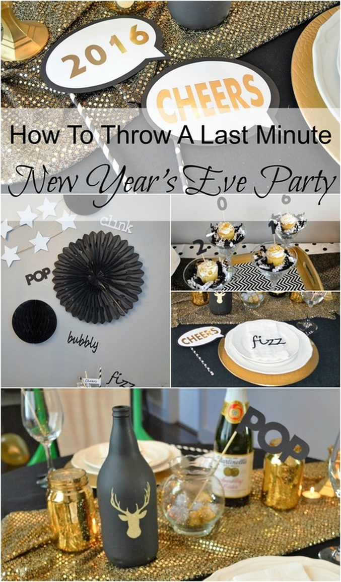 How to Throw a Last Minute New Year's Eve Party #ChicaFashionBlog