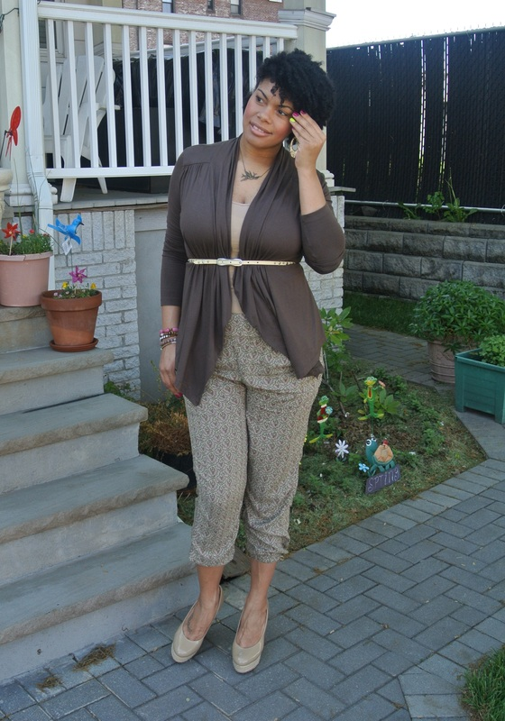 chica_fashion_alicia_gibbs Cascade Cardi + Printed Harem Pants For Mother's Day