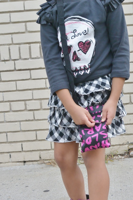 Kid's Fashion Fridays: Chica Fashion: Ruffle Graphic Sweatshirt + Plaid Skirt