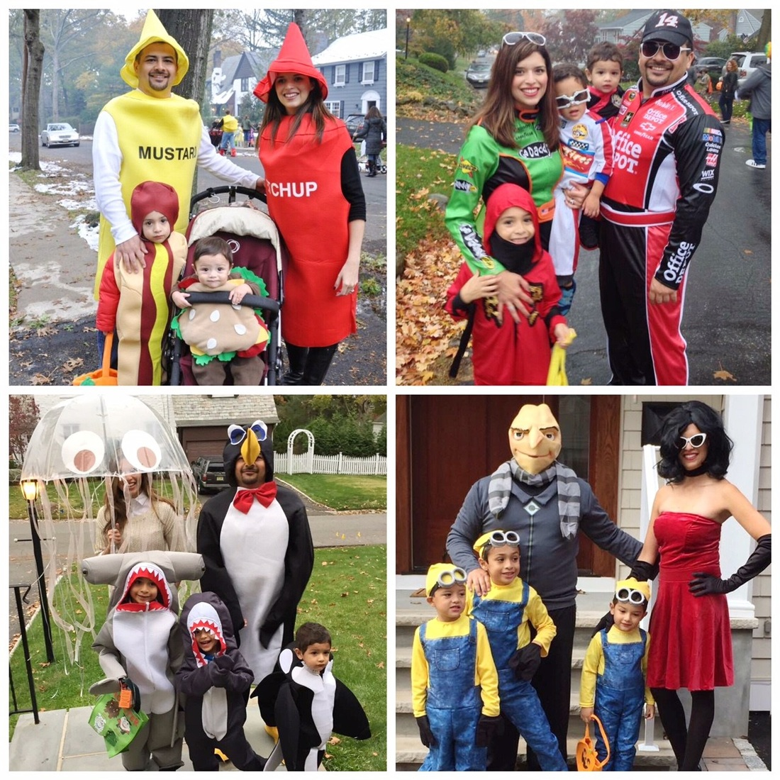 Alicia Gibbs: 12 DIY Family Themed Costumes - Condiments, Racecar Drivers, Under the Sea + Minions