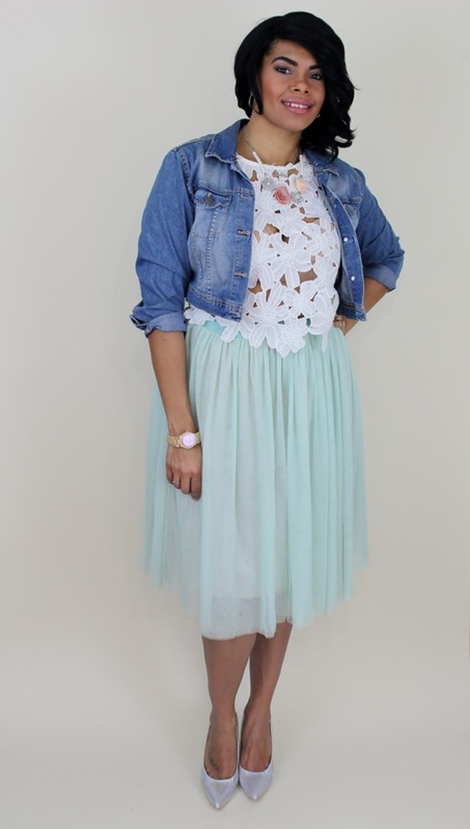 Alicia Gibbs: Easter Outfit Idea: Crochet Top + Tulle Skirt #ChicaFashionBlog