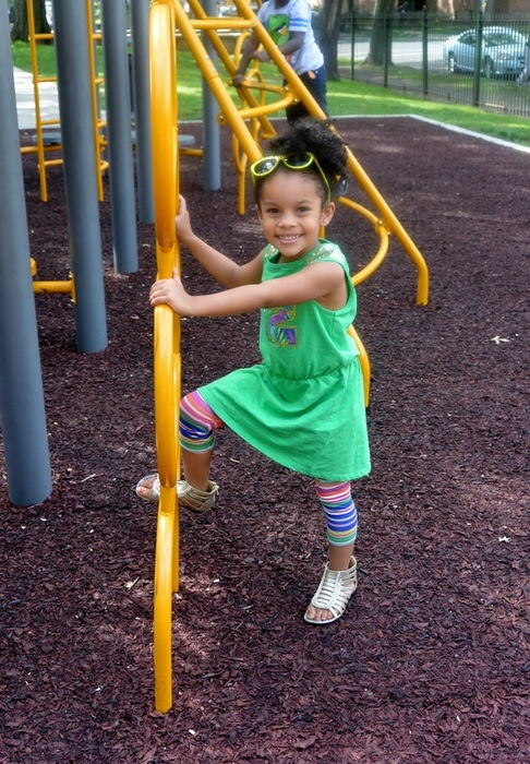 Mini Chica Fashion: FabKids: Sparkle Sports Dress + Striped Tights