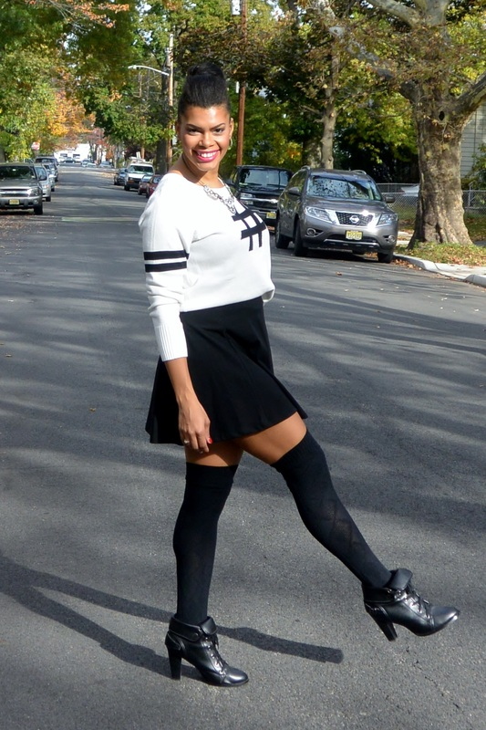 Styled By Lumia: Hashtag Sweater + Skater Skirt #chicafashionblog