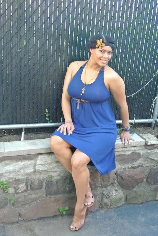 Alicia Gibbs Mandee Summer Outfit: Jersey Knit Hi-Lo Dress