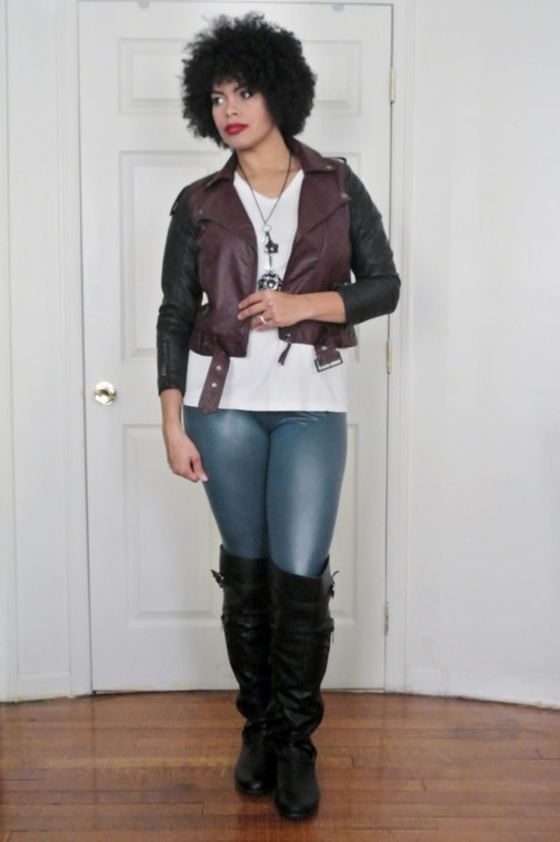 Two Moto Jacket + Faux Leather Leggings