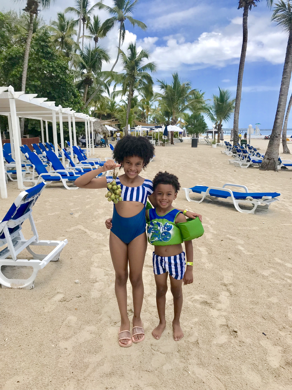 Matching family swimsuits -- sibling bathing suits